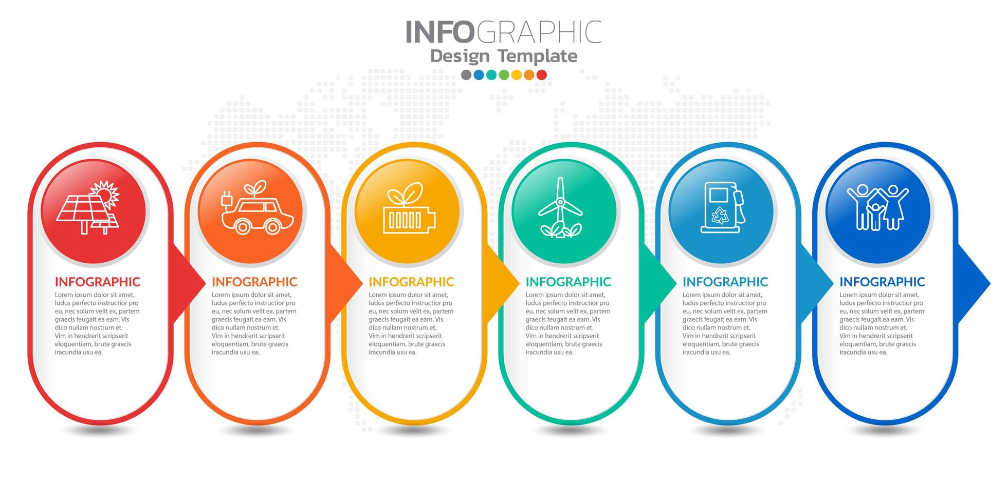 infografica per il concetto di business con icone e opzioni o passaggi. vettore
