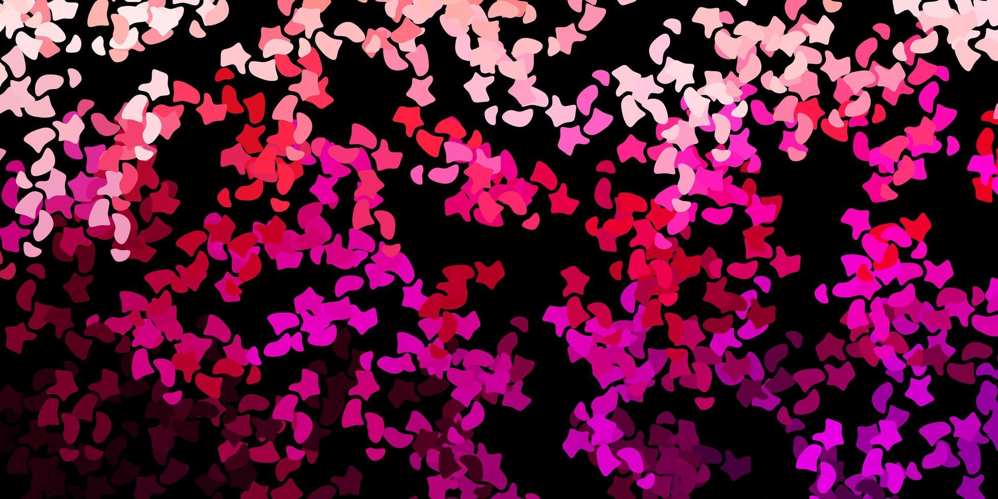 modello vettoriale rosa scuro con forme astratte.
