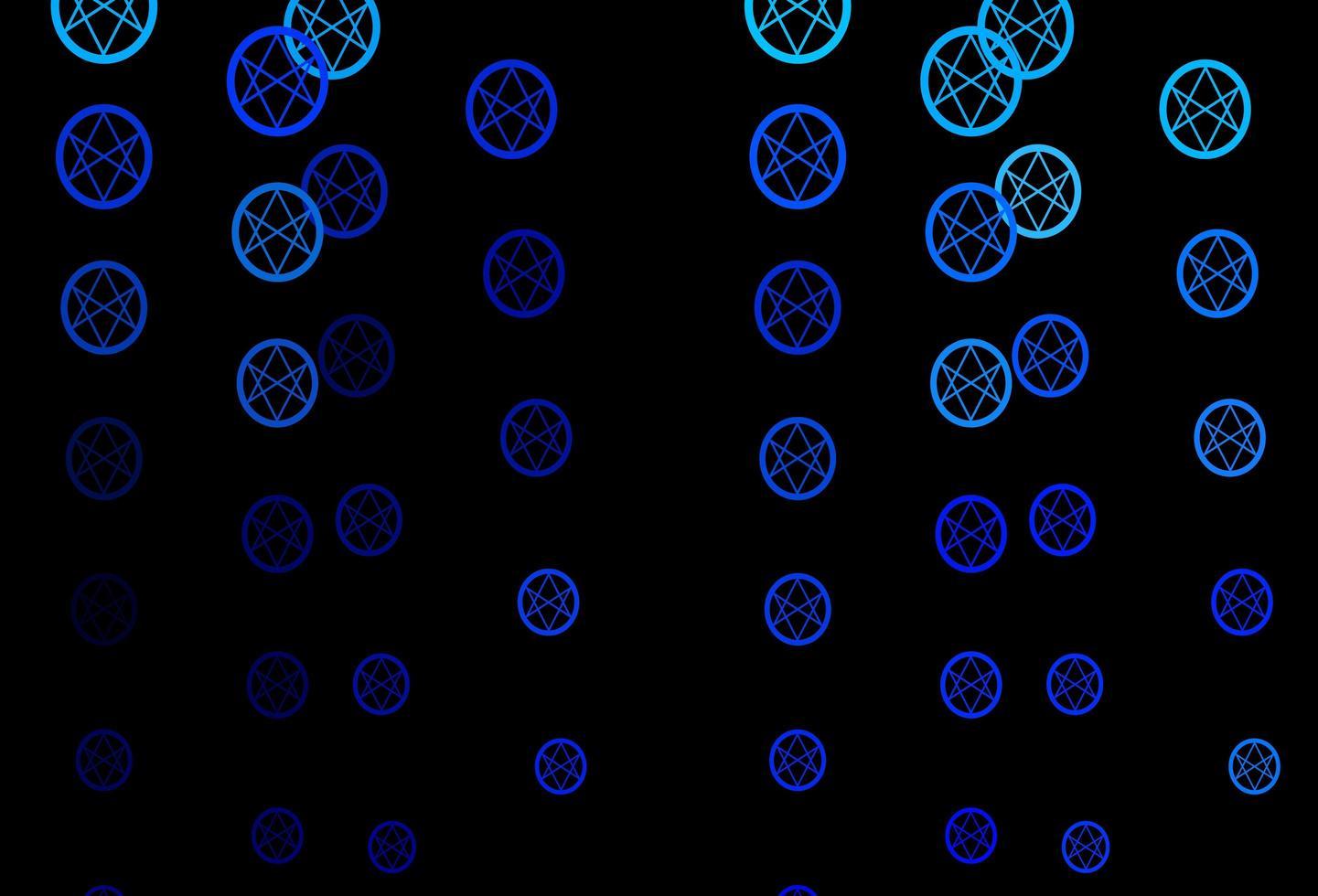 modello vettoriale blu scuro con elementi magici.