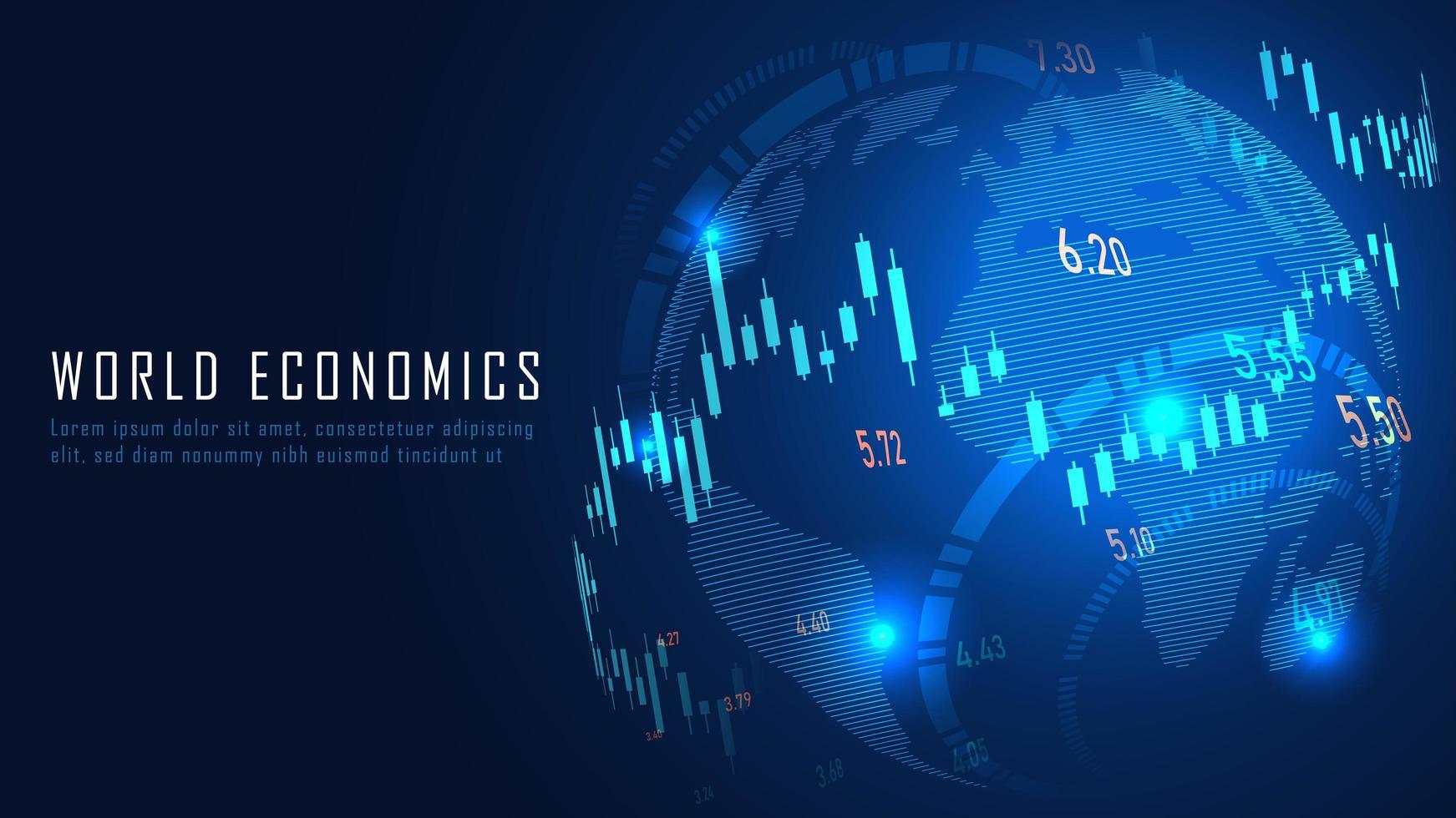 finanziaria globale nel concetto grafico vettore