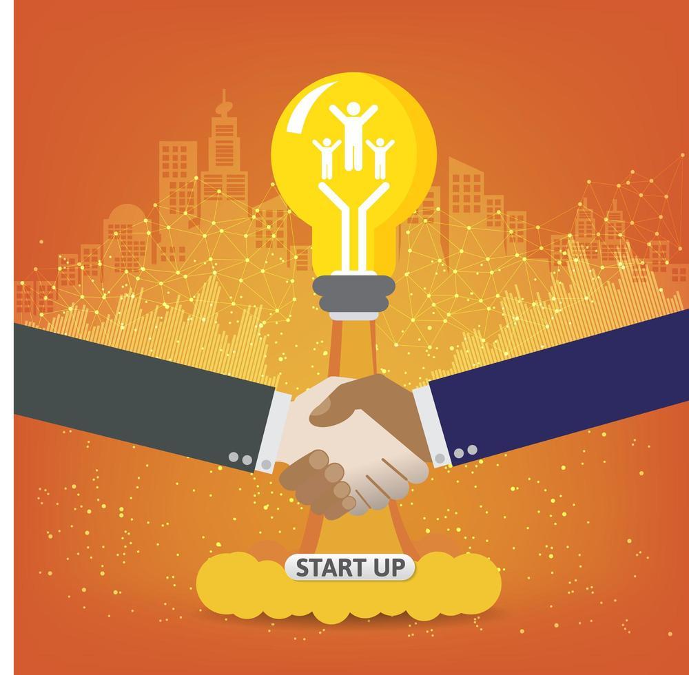 concetto di avvio aziendale per pagina web, banner, presentazione, social media. vettore