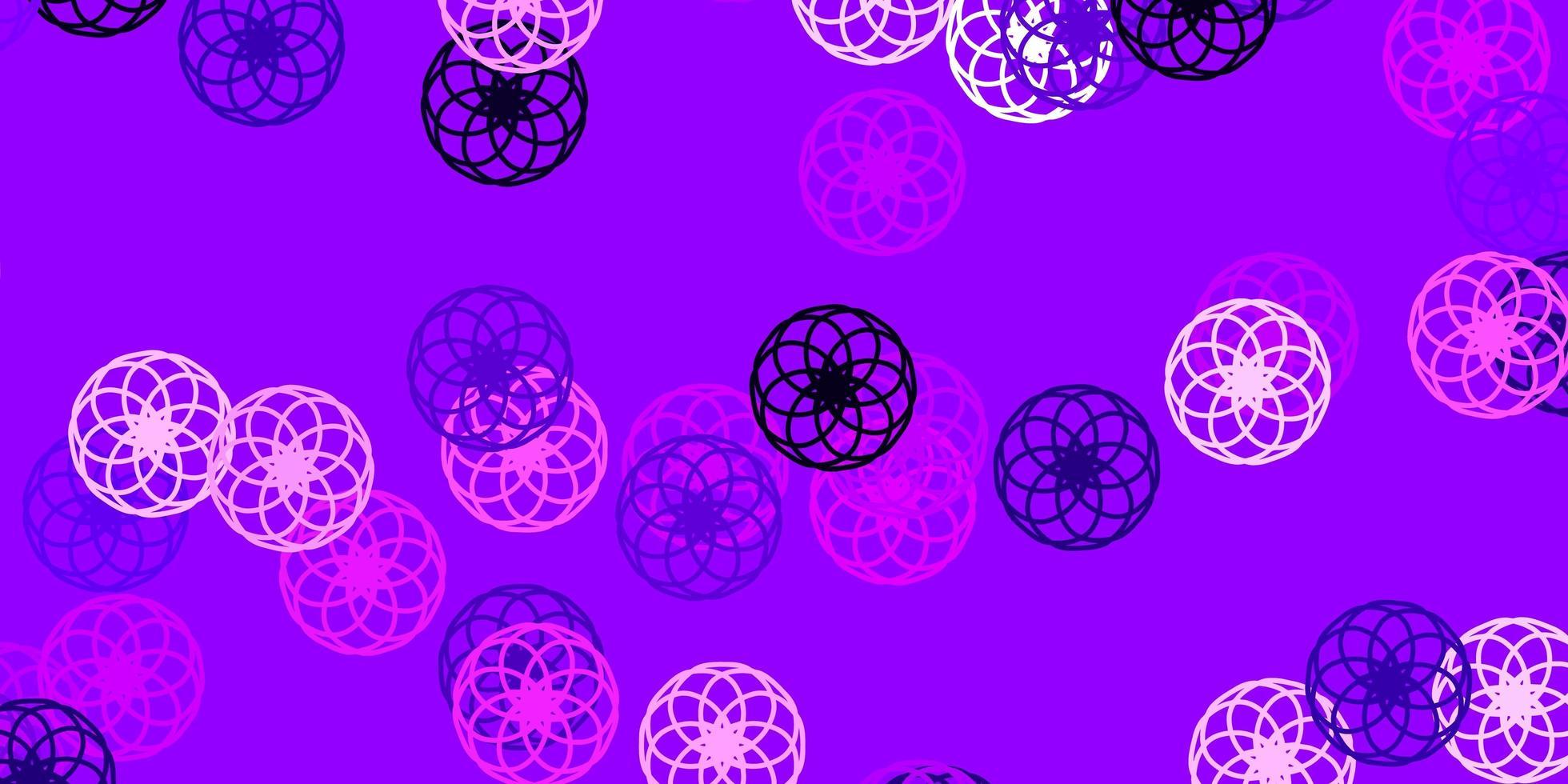 sfondo vettoriale viola chiaro, rosa con punti.