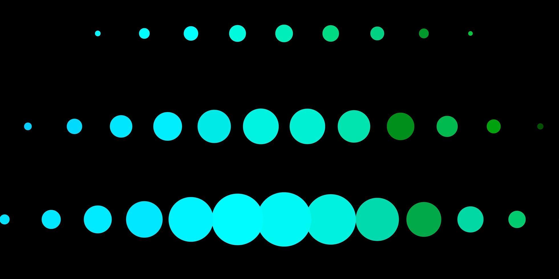 sfondo vettoriale blu scuro, verde con bolle.