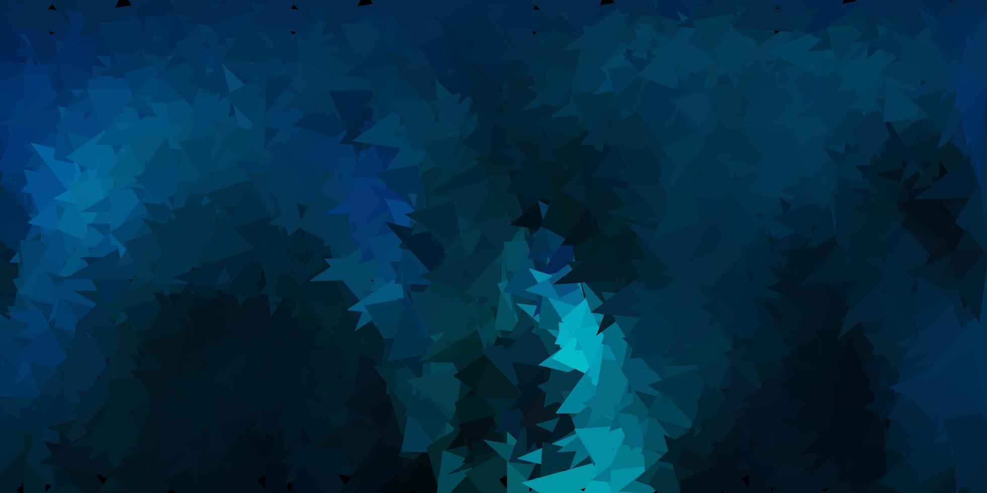 sfondo poligonale vettoriale blu scuro, verde.
