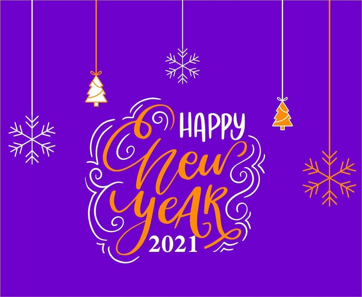 2021 felice anno nuovo vettore
