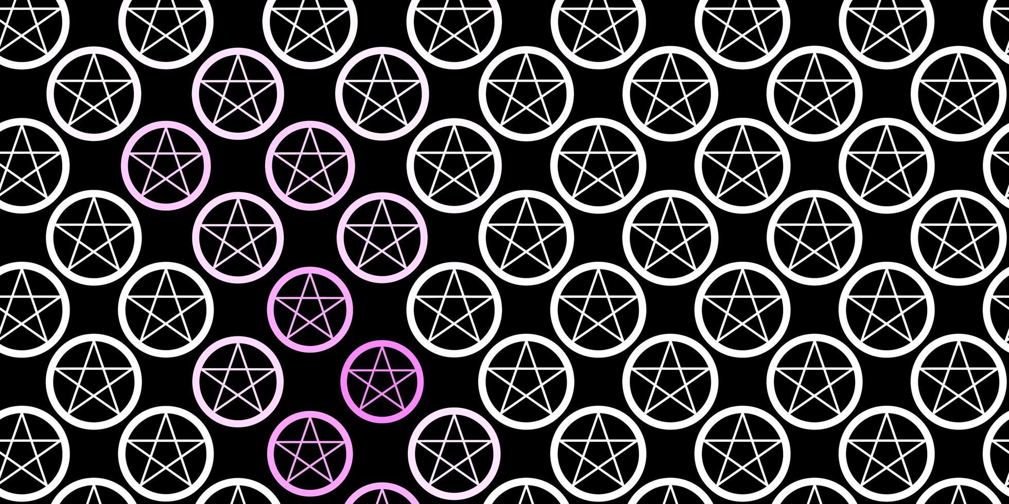 modello vettoriale viola scuro con elementi magici.
