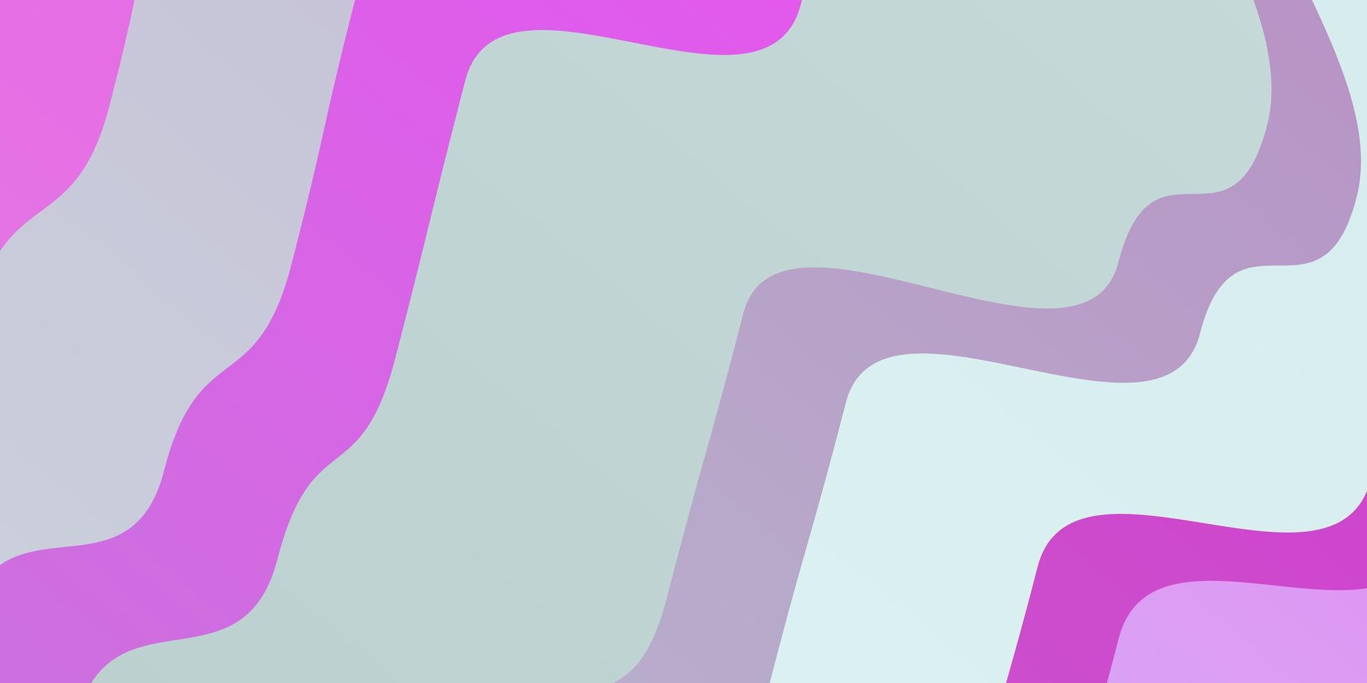 sfondo vettoriale rosa chiaro, blu con linee piegate.