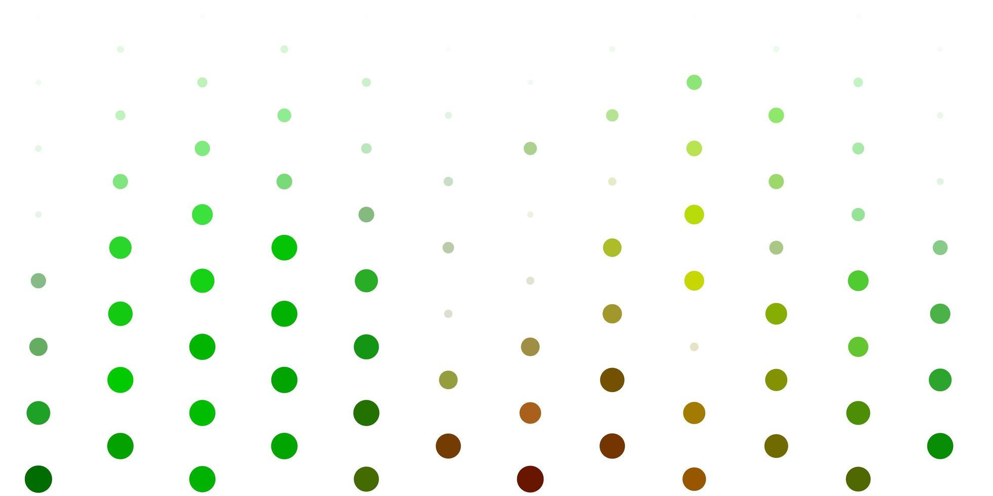 sfondo vettoriale verde chiaro con punti