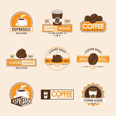 Logo della caffetteria vettore
