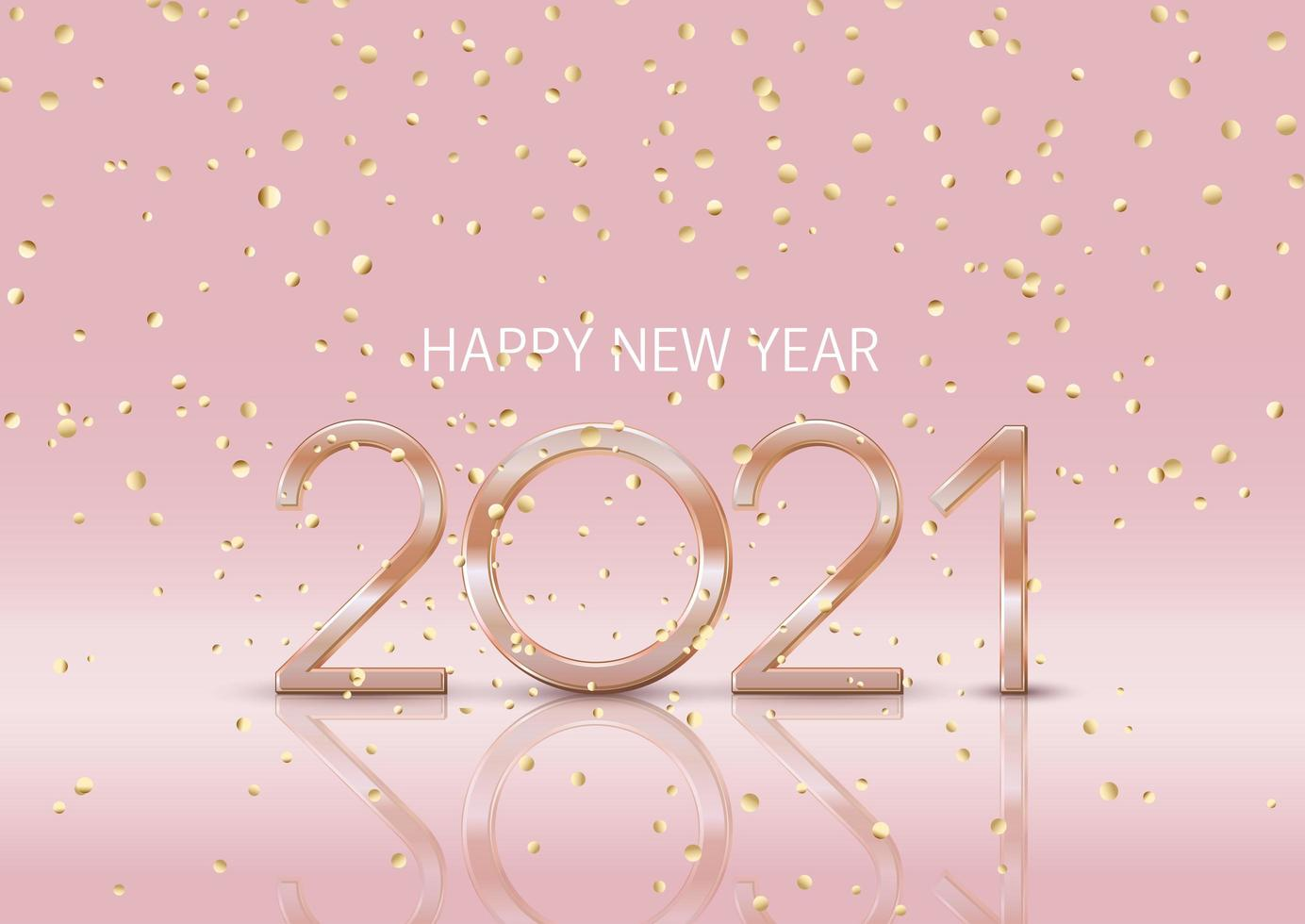 felice anno nuovo sfondo con coriandoli d'oro vettore