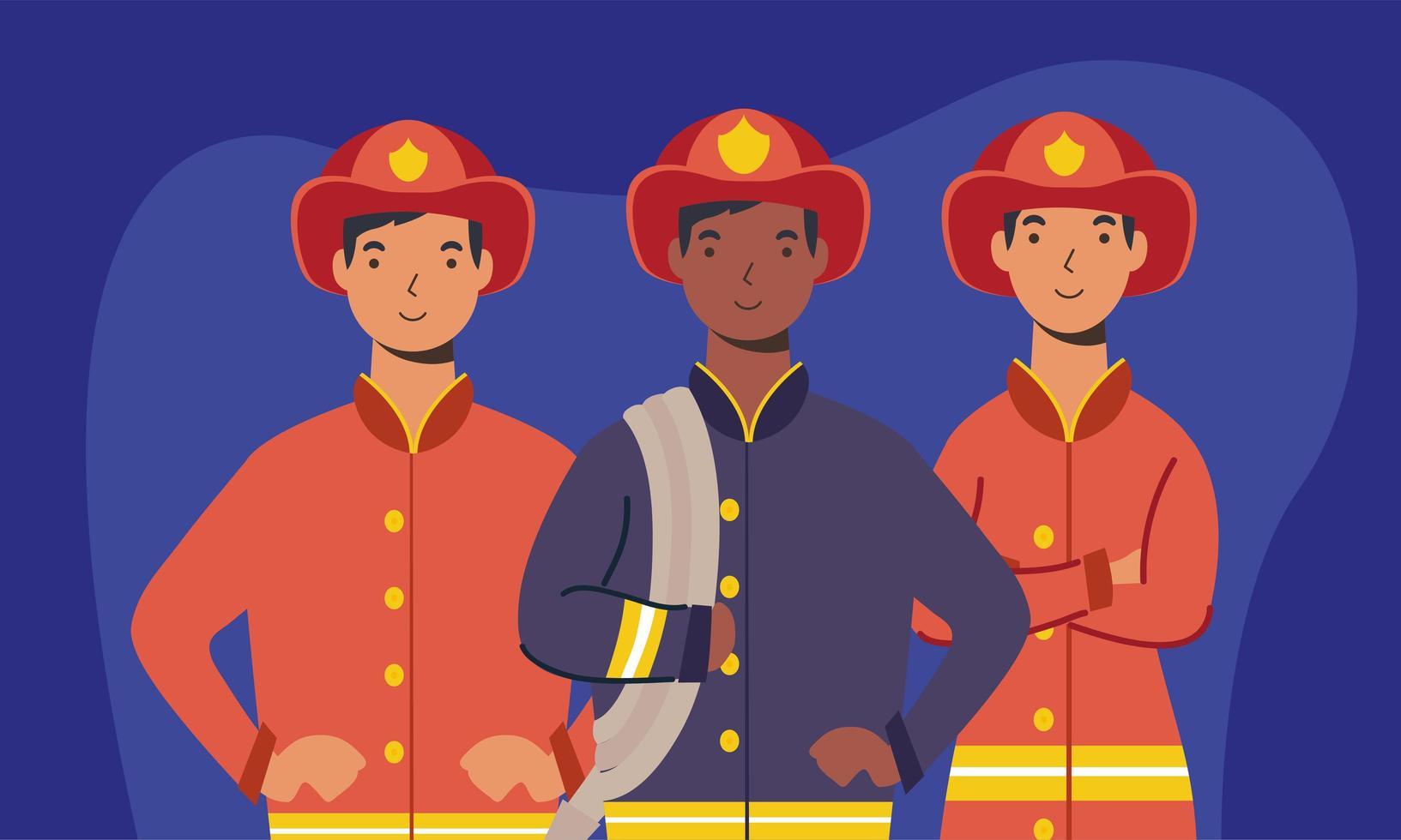 disegno vettoriale di vigili del fuoco