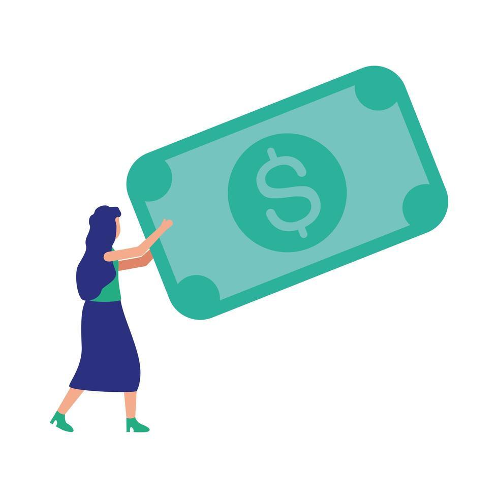 avatar donna con disegno vettoriale bill
