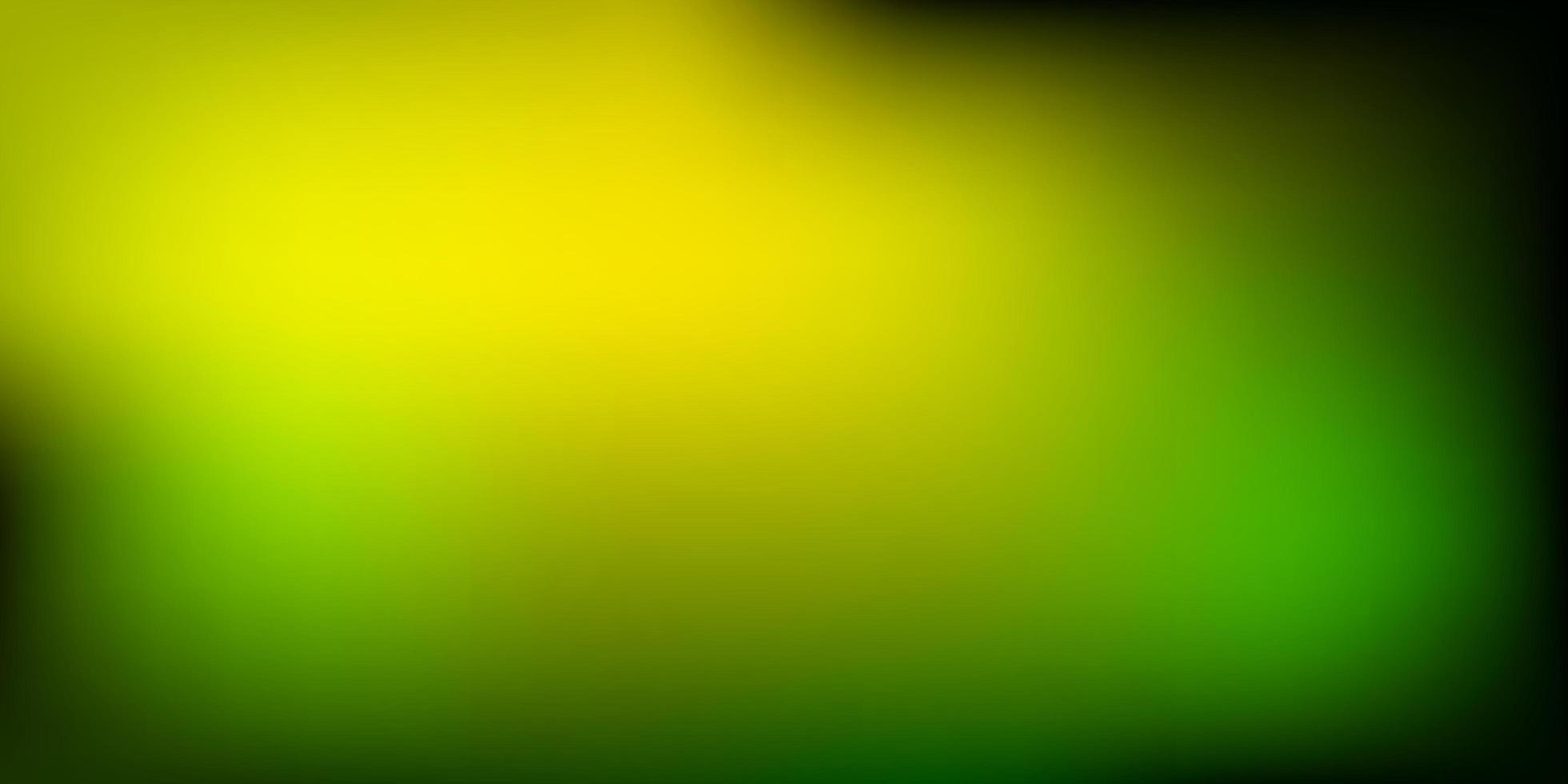 trama di sfocatura vettoriale verde chiaro, giallo.
