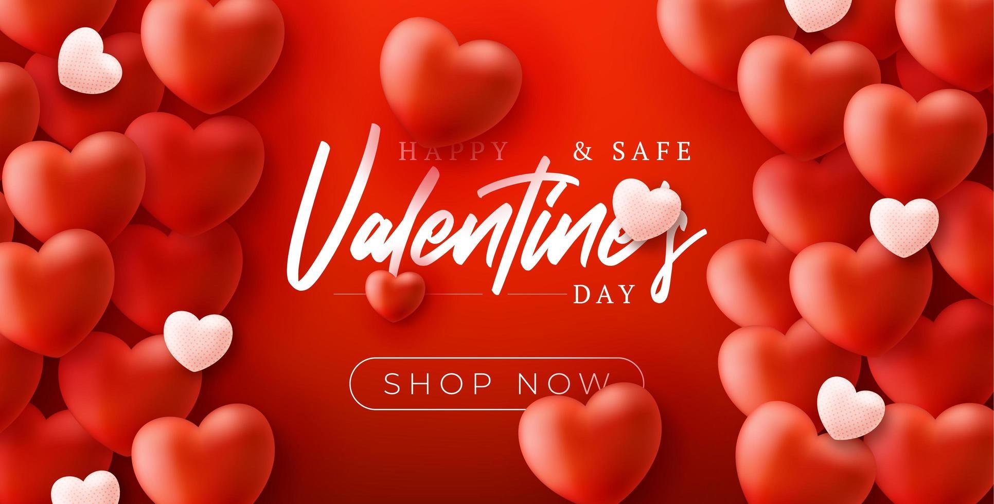 felice e sicuro sfondo di vendita di san valentino vettore