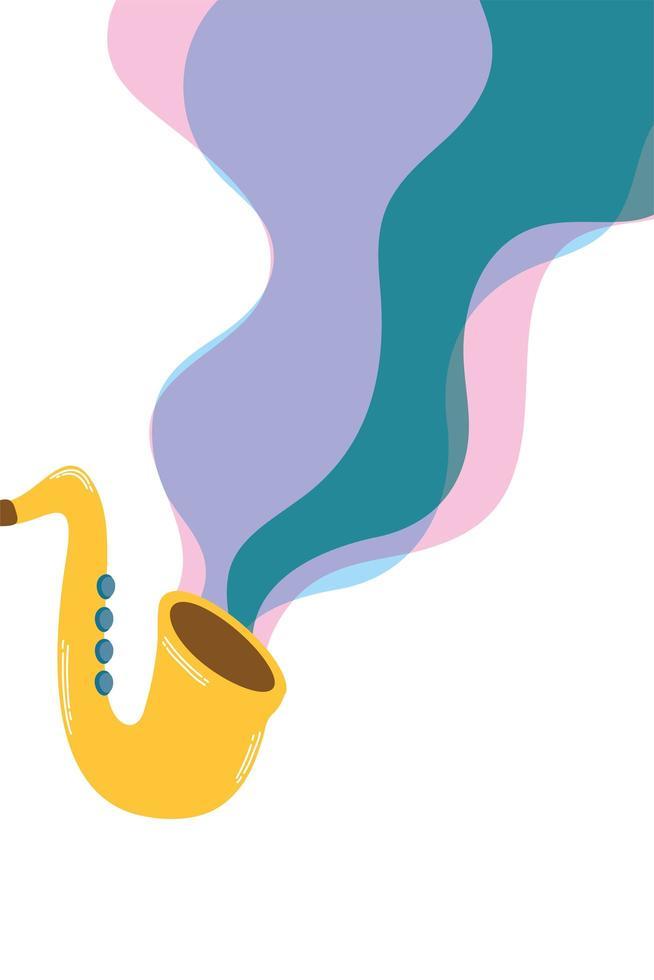 icona isolata di strumento musicale sassofono vettore