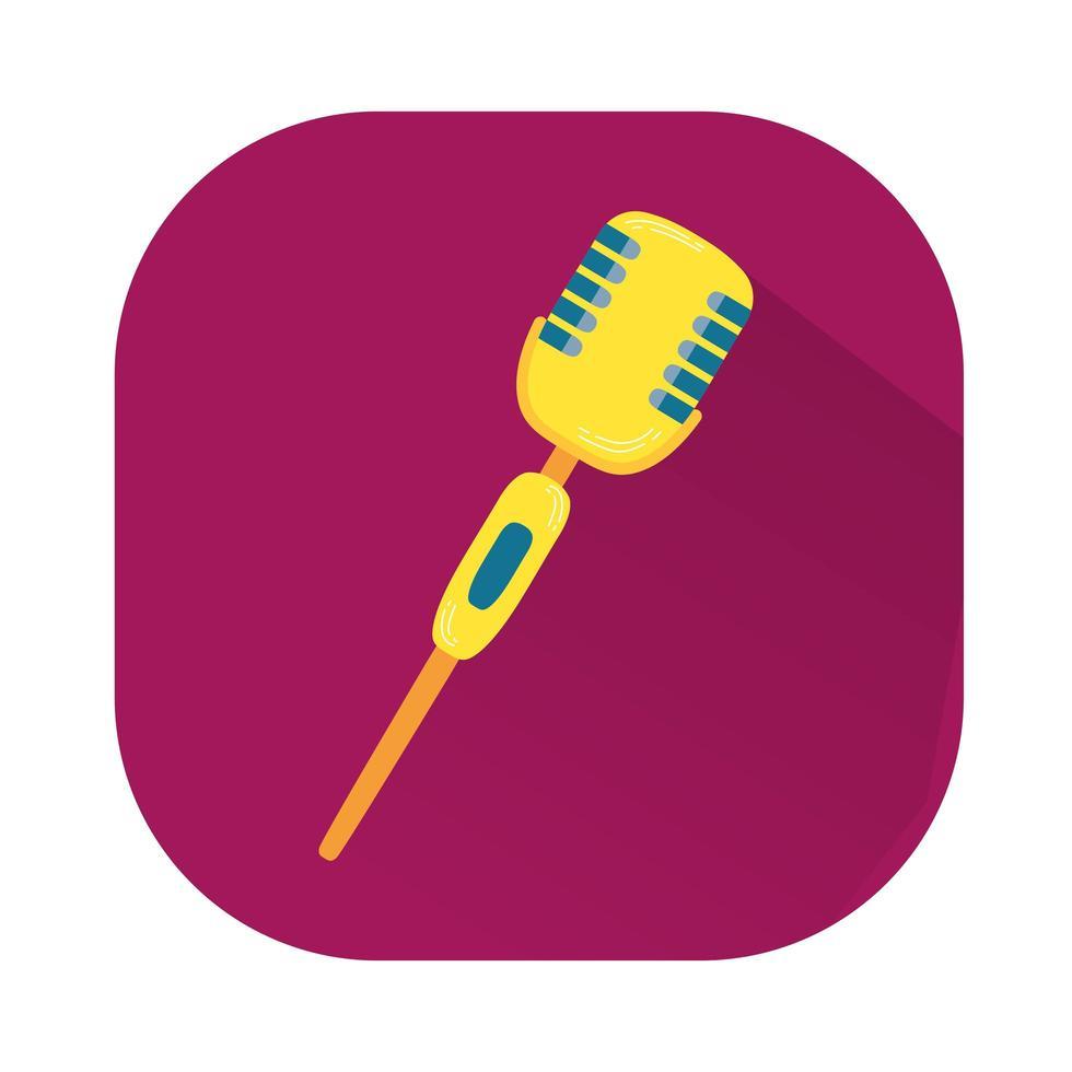 icona del dispositivo audio audio del microfono vettore