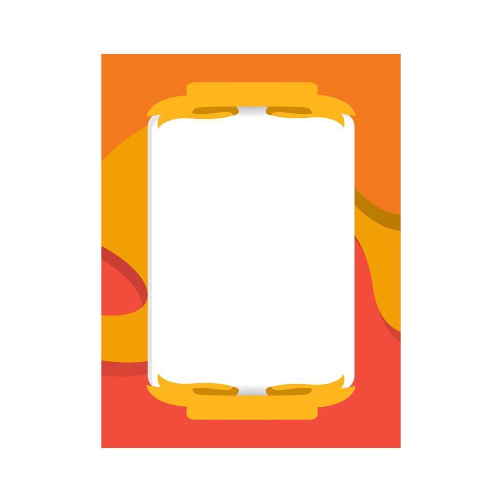 design del modello di foto cornice tagliata carta per la stampa vettore