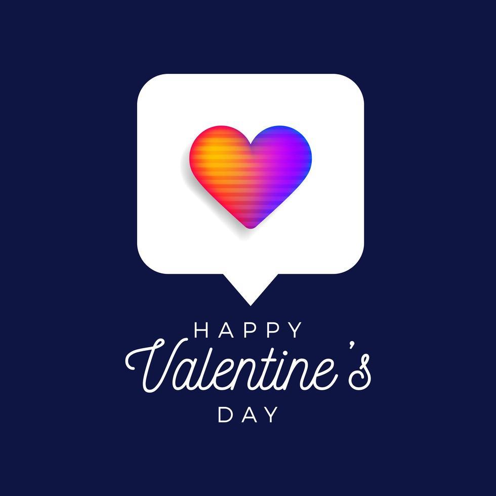 cuore arcobaleno di San Valentino vettore