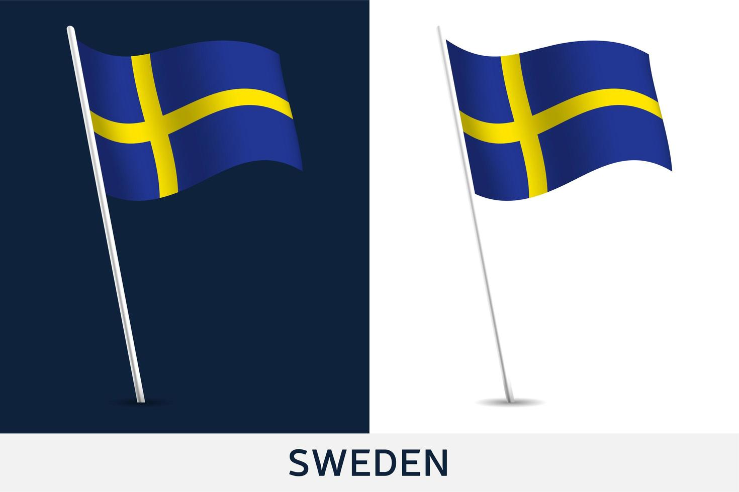bandiera del vettore della Svezia