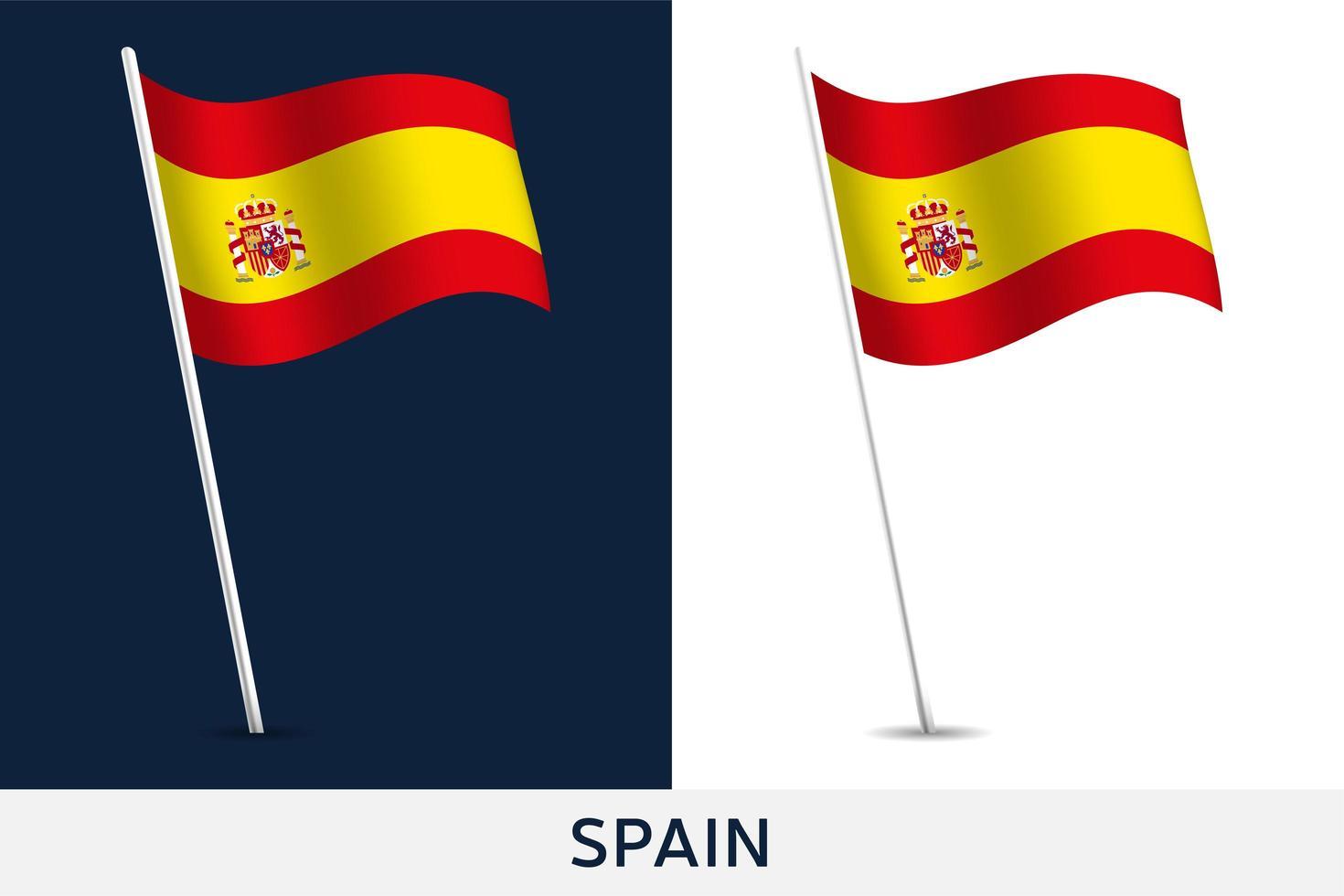 bandiera del vettore della Spagna