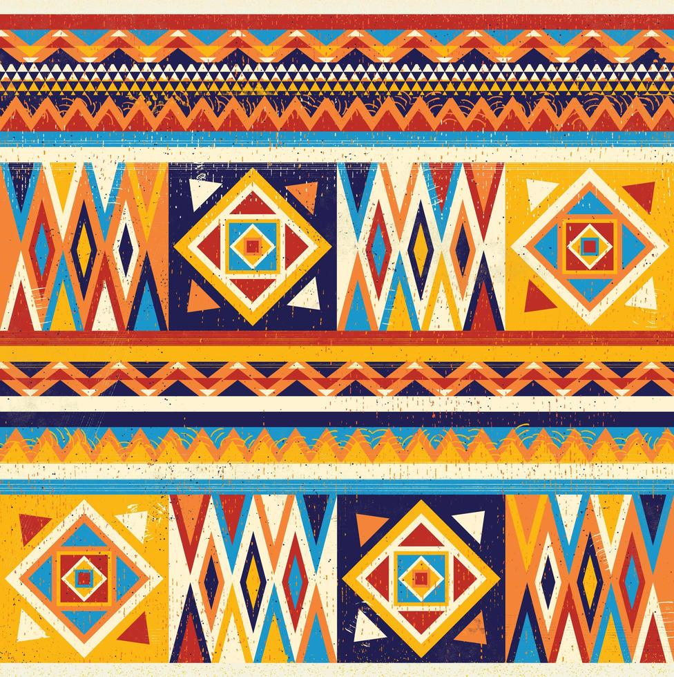 colorato design tessile africano. design di stampa in tessuto kente, cultura africana vettore