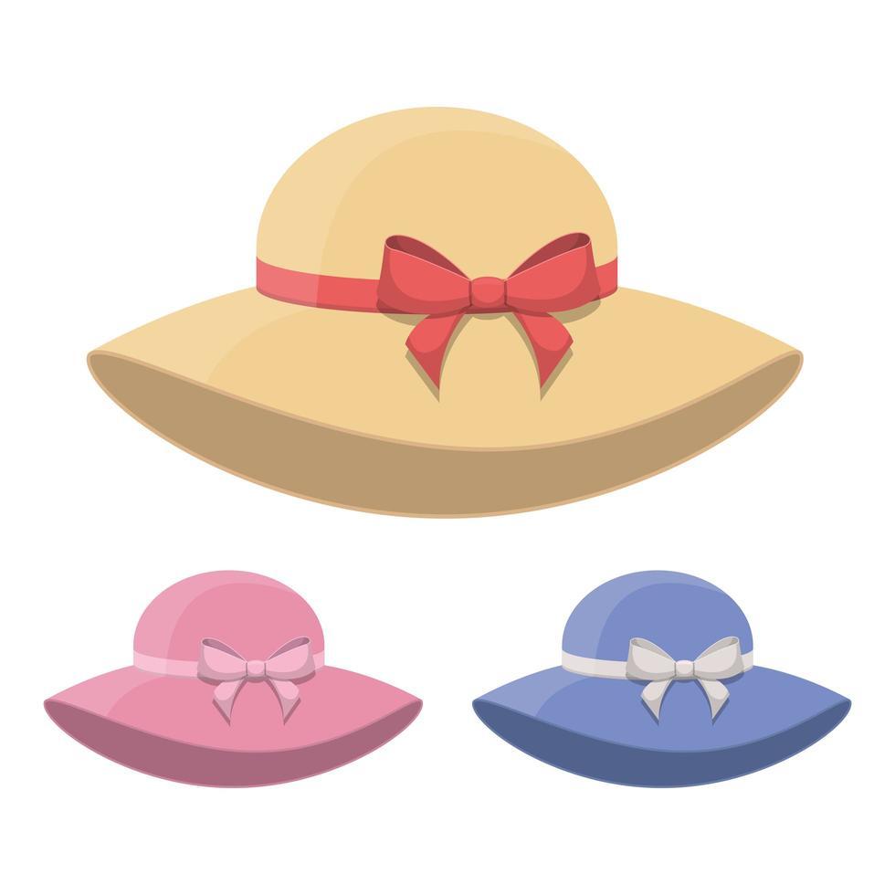 donna retrò cappello design illustrazione vettoriale isolato su sfondo bianco