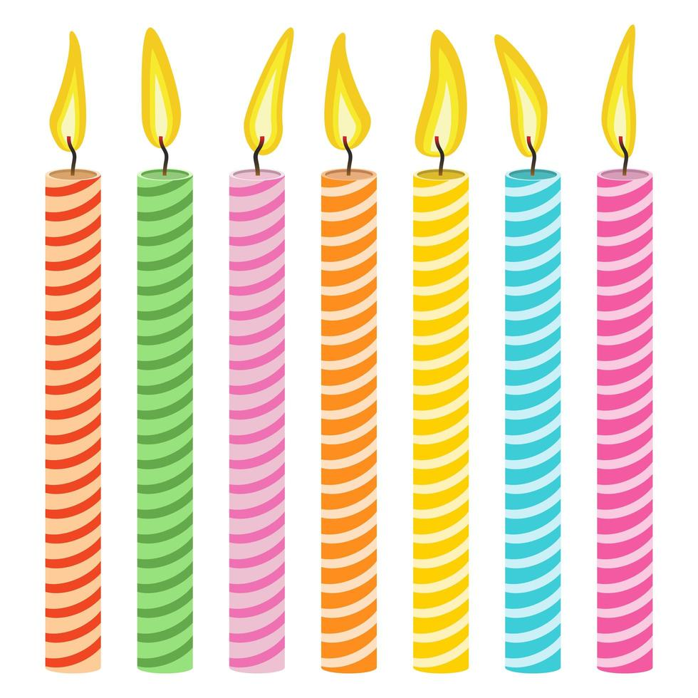 candela set disegno vettoriale illustrazione isolato su sfondo bianco