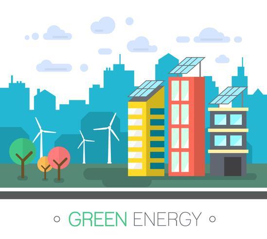 Città Green Energy vettore