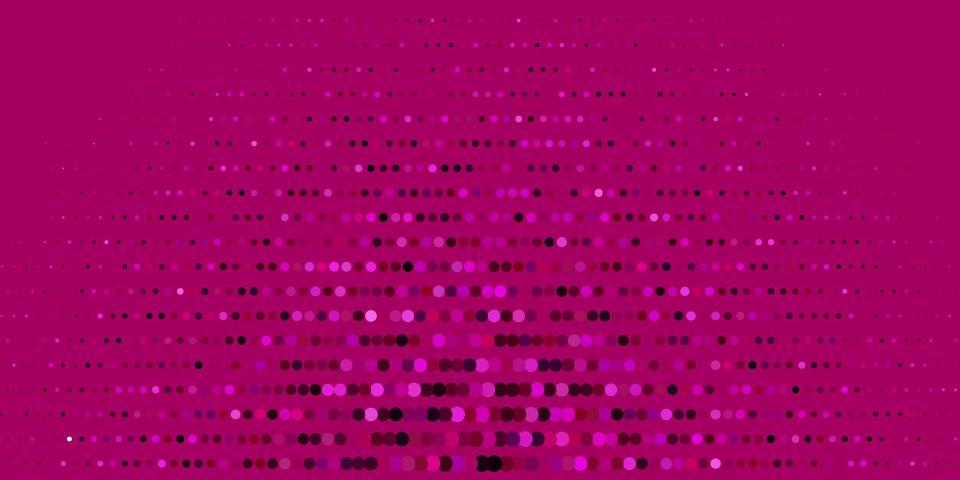 modello vettoriale rosa scuro con sfere.