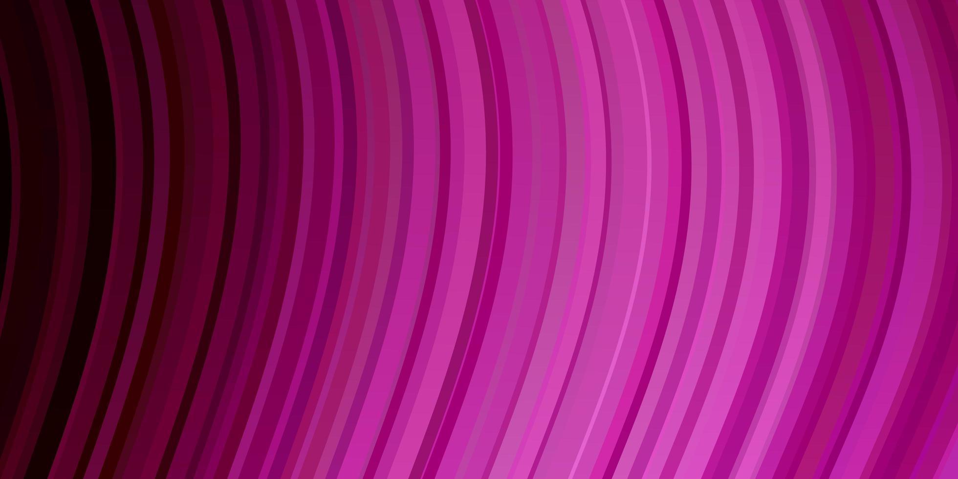 sfondo vettoriale rosa chiaro con curve.