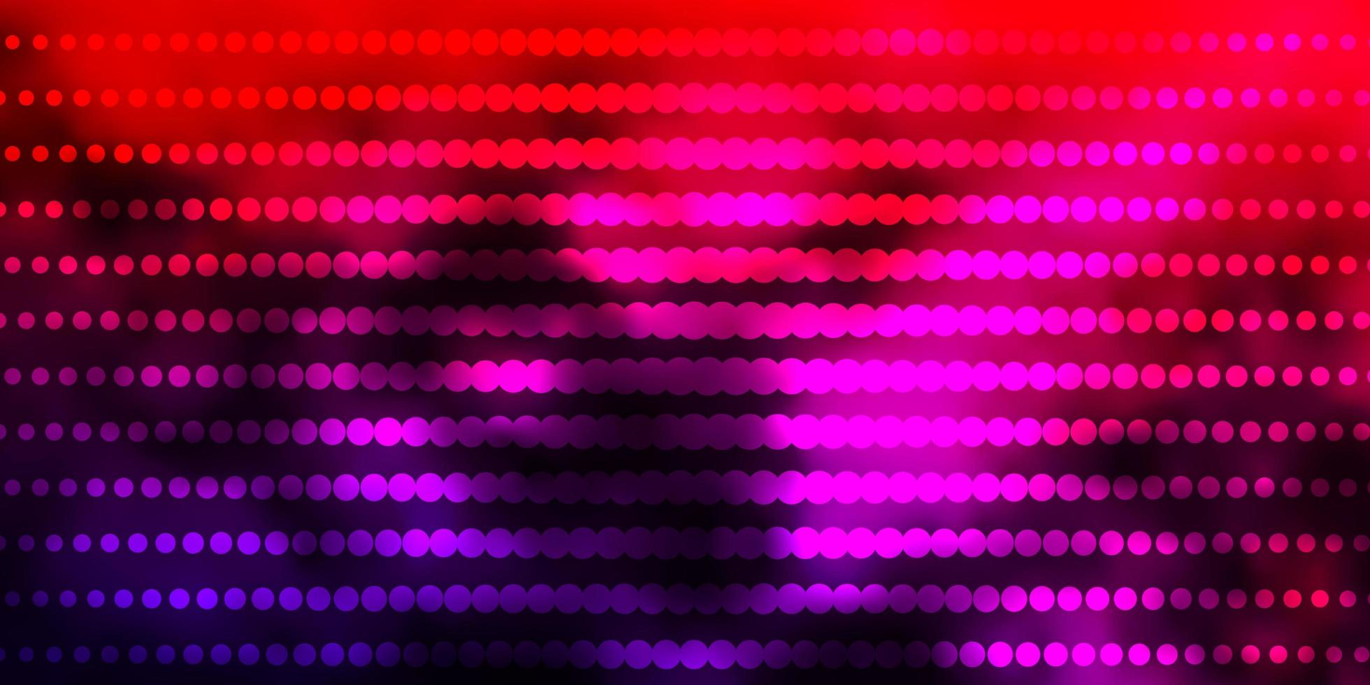 sfondo vettoriale rosa scuro, rosso con cerchi.