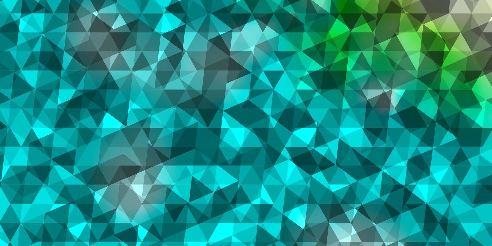 struttura di vettore blu chiaro, verde con stile triangolare.