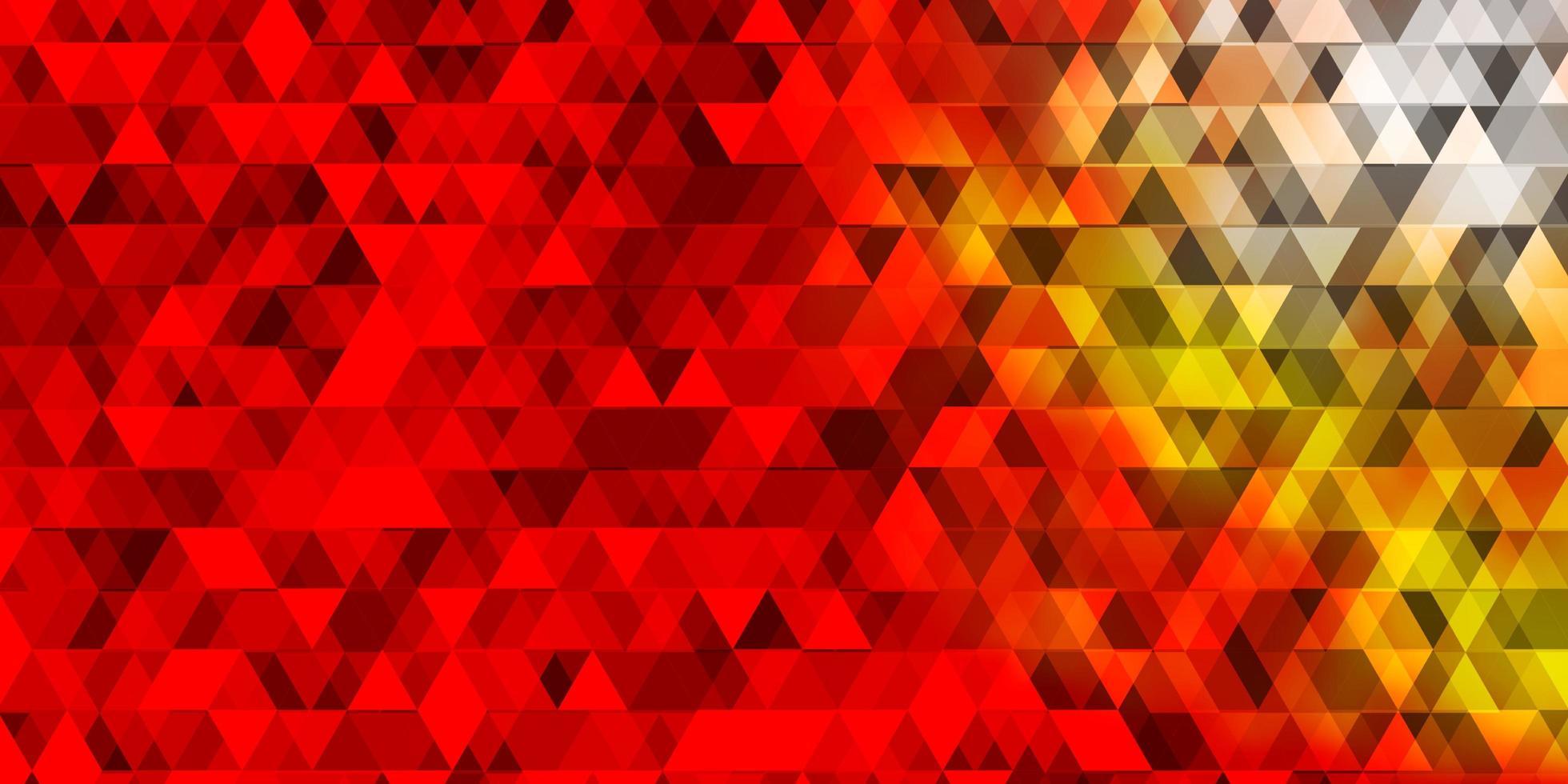 trama vettoriale arancione chiaro con linee, triangoli.