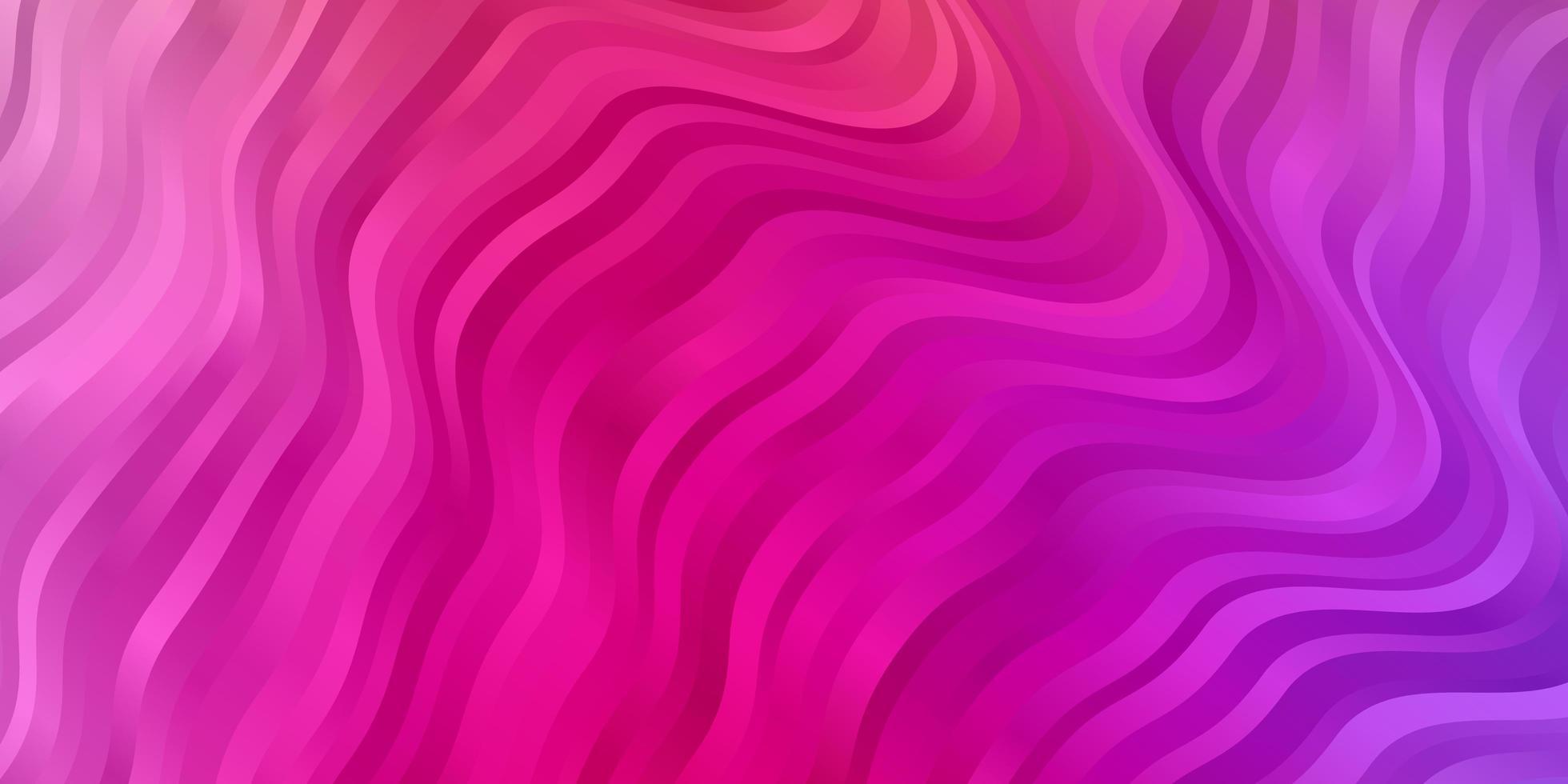 sfondo vettoriale rosa chiaro, rosso con linee piegate.