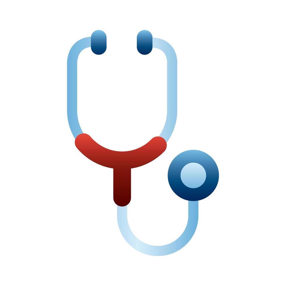 strumento medico dello stetoscopio vettore