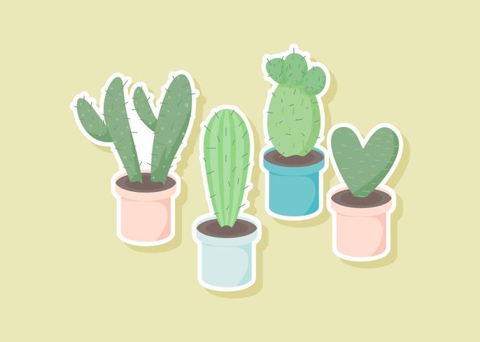 Vettori unici di piante grasse