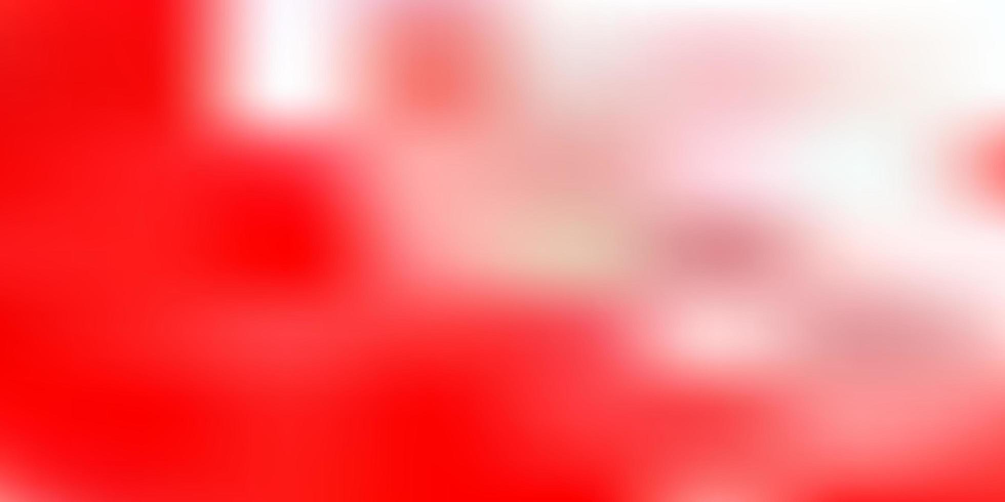 sfondo sfocato sfumato vettoriale rosso chiaro.