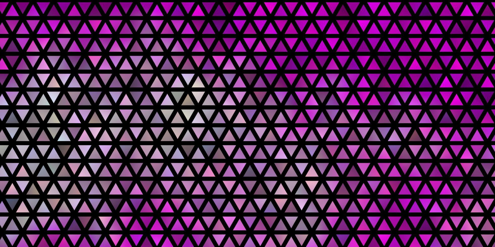 sfondo vettoriale viola chiaro, rosa con linee, triangoli.