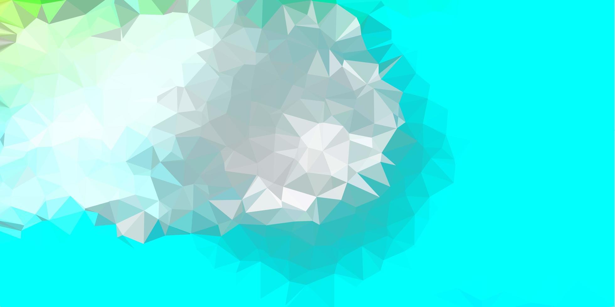 disegno del mosaico del triangolo di vettore blu chiaro, verde.
