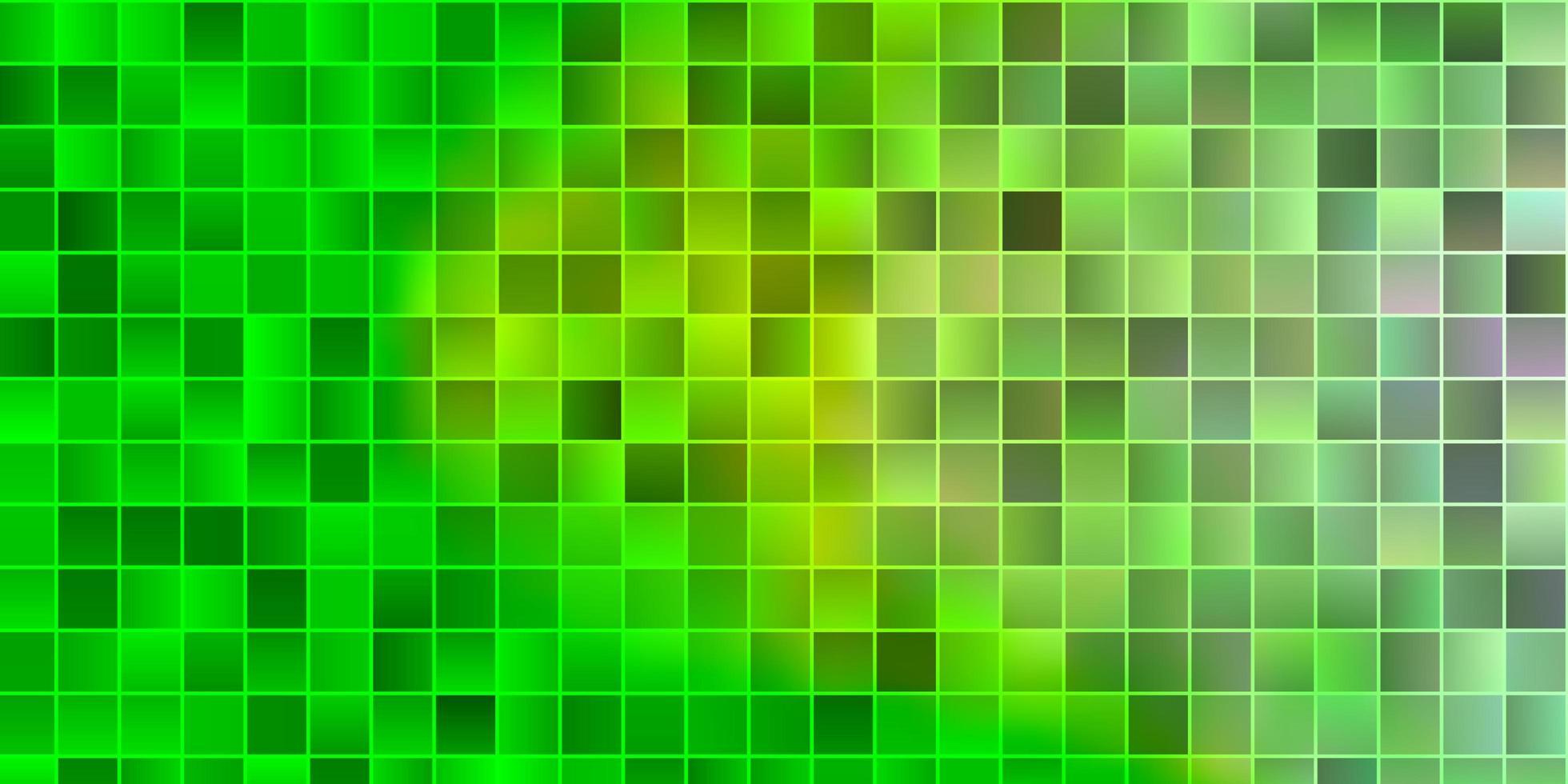 sfondo vettoriale verde chiaro con rettangoli.