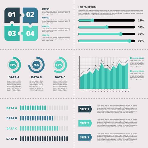 Modello di elementi di affari infografica vettore