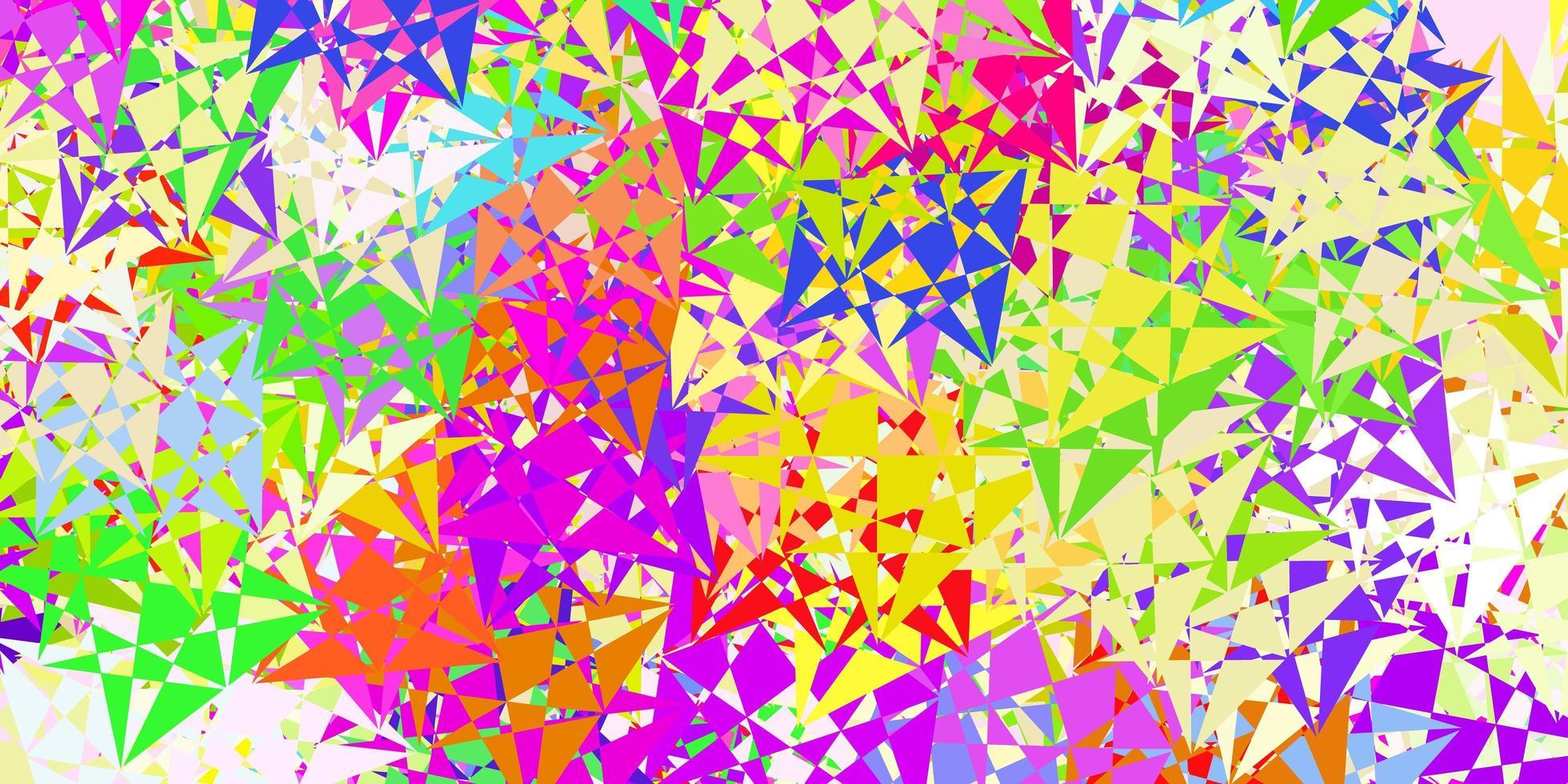 layout vettoriale multicolore chiaro con forme triangolari.