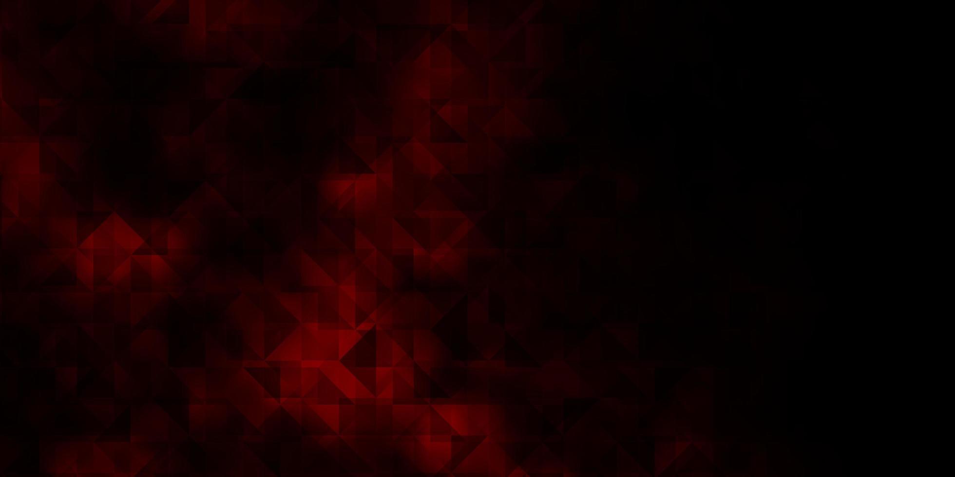 layout vettoriale rosso scuro con linee, triangoli.