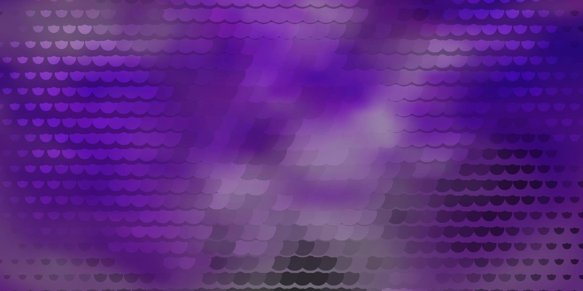 sfondo vettoriale viola scuro con cerchi.