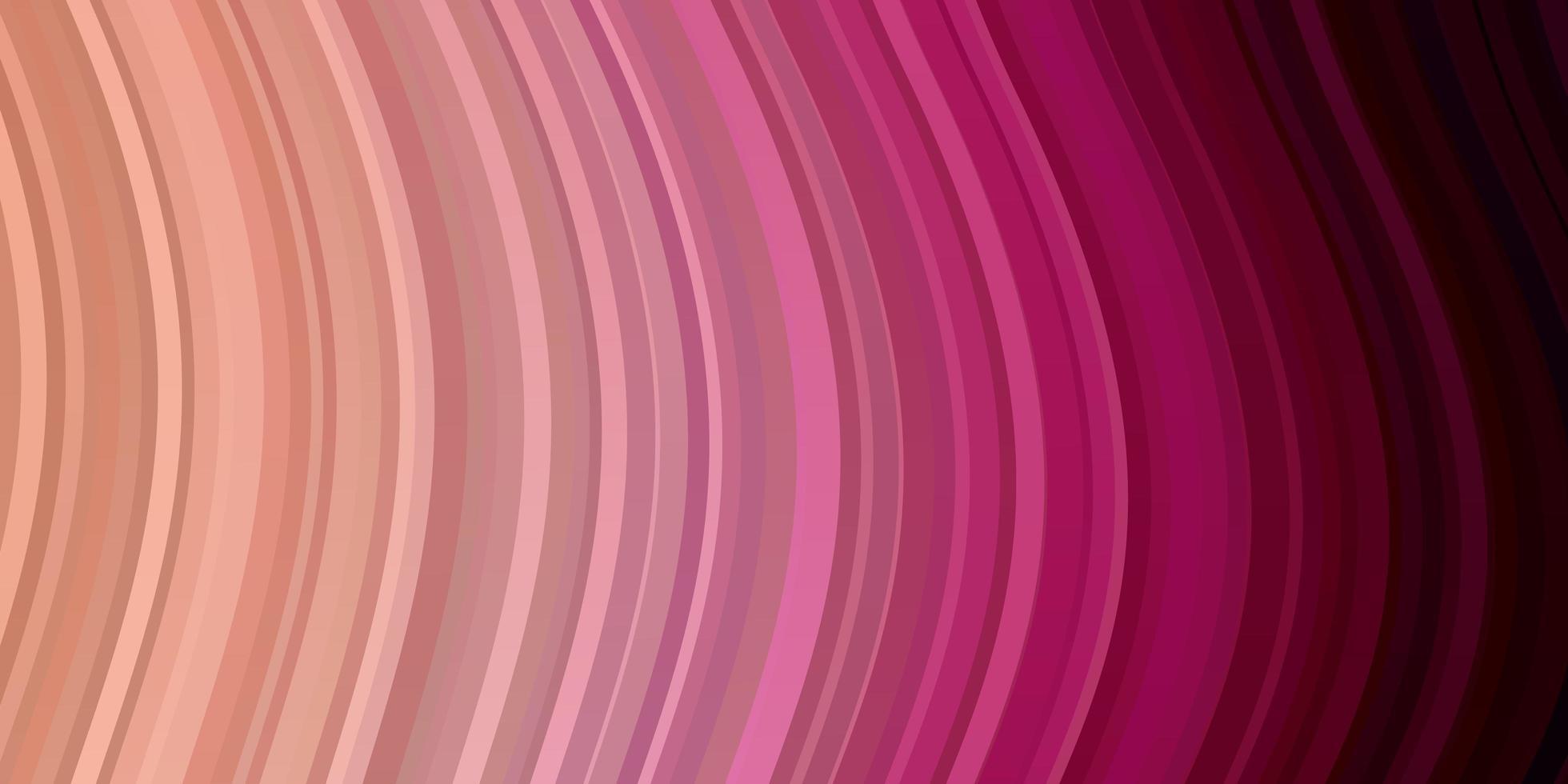 sfondo vettoriale rosa chiaro con linee piegate.
