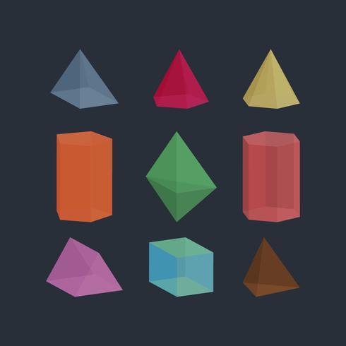 Illustrazione dell'elemento dell'elemento di vettore della raccolta del prisma
