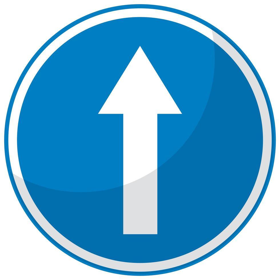 segnale stradale blu su sfondo bianco vettore