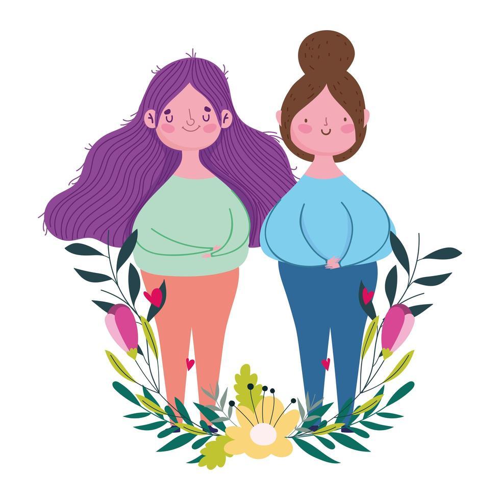 felice festa della mamma, donne fiori decorazione celebrazione design vettore