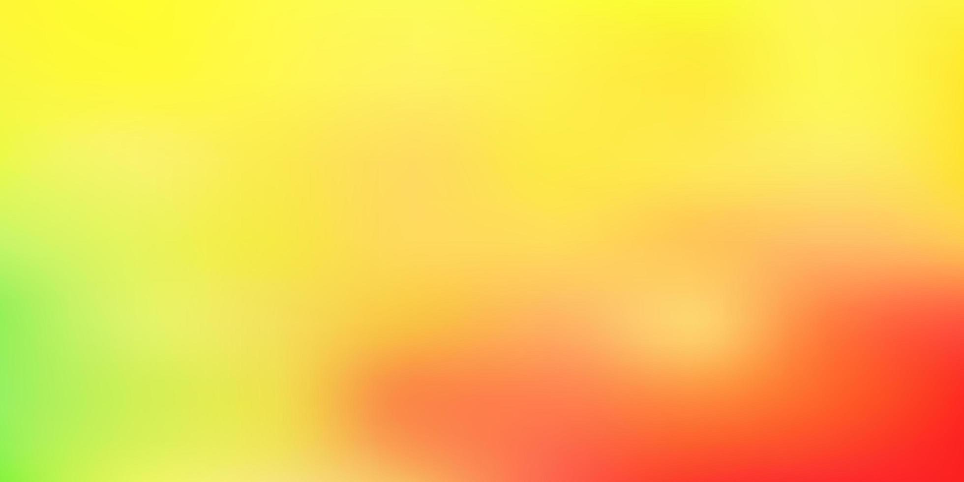 modello di sfocatura vettoriale rosso chiaro, giallo.