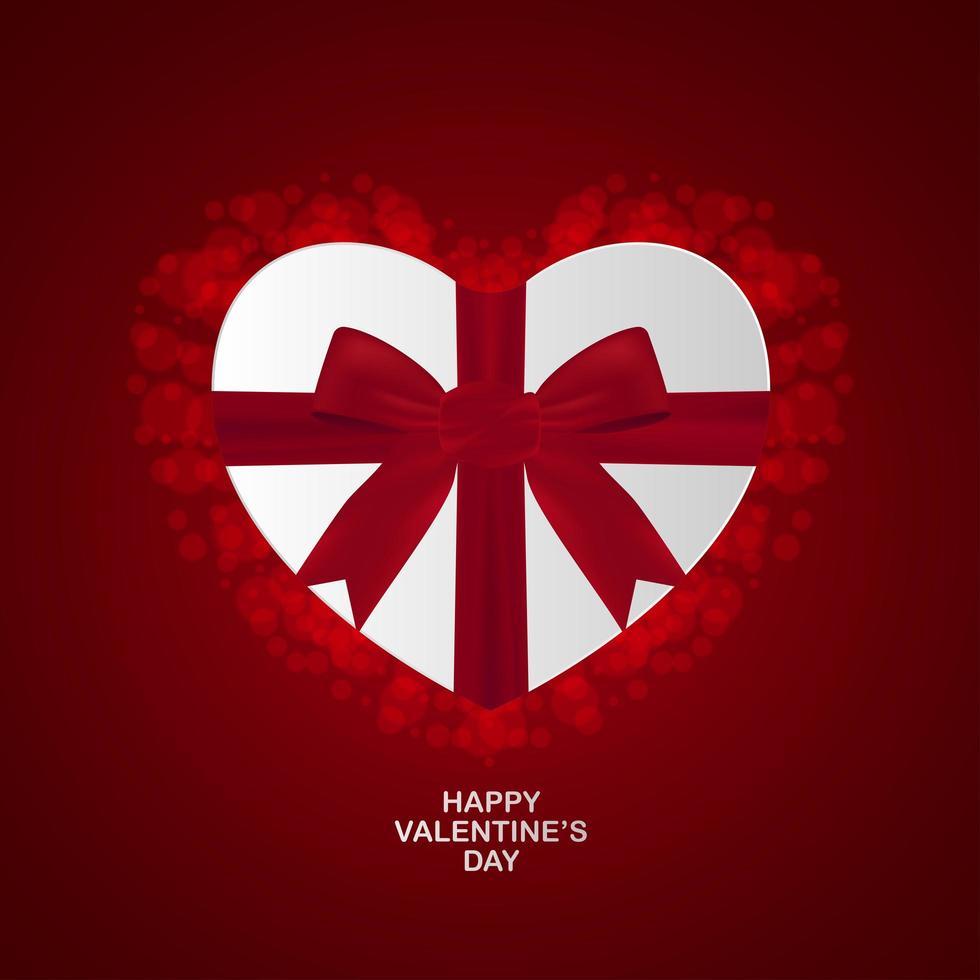 regalo di san valentino a forma di cuore vettore